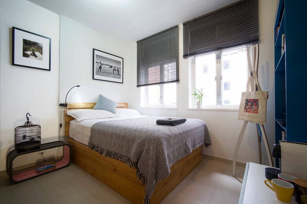 Your bedroom ..  Mattress 190cm x 135cm