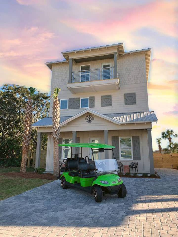 BRAND NEW | Private Pool | Private Beach Access | Free Golf Cart & Paddleboard