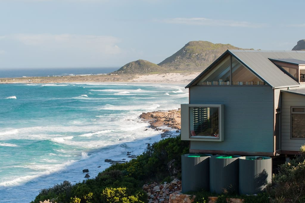 Looking out towards Witsands beach, a beautiful walk away and one of the country's premium big wave, kite and windsurfing destinations.