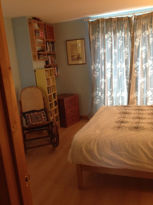 Downstairs double bedroom over looking the garden.