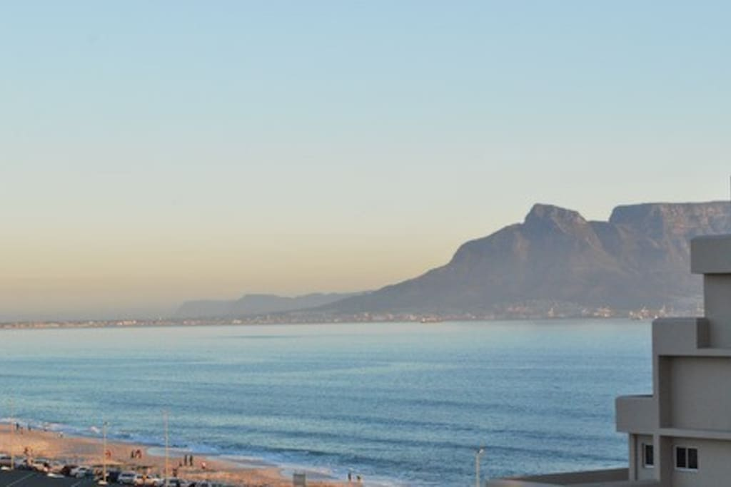 Views of Table Mountain and sea  towards Milnerton