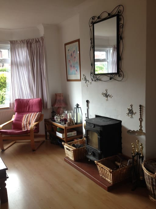 The main living room with log burner.