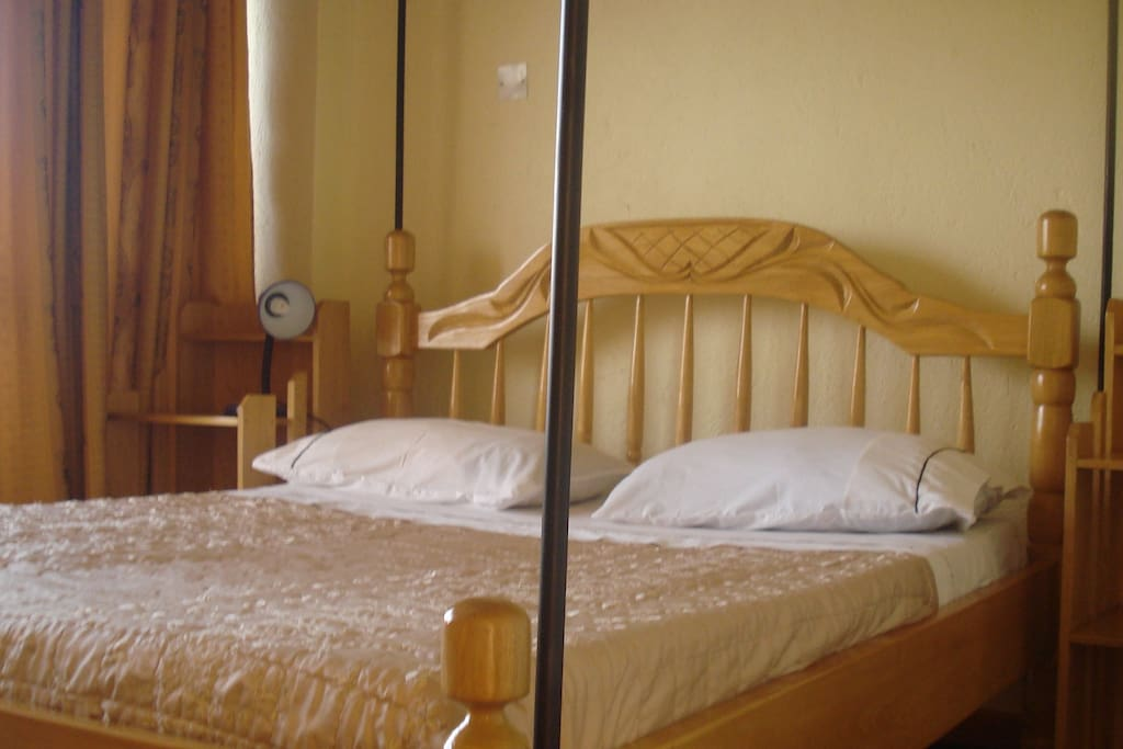 one of the room with bed
