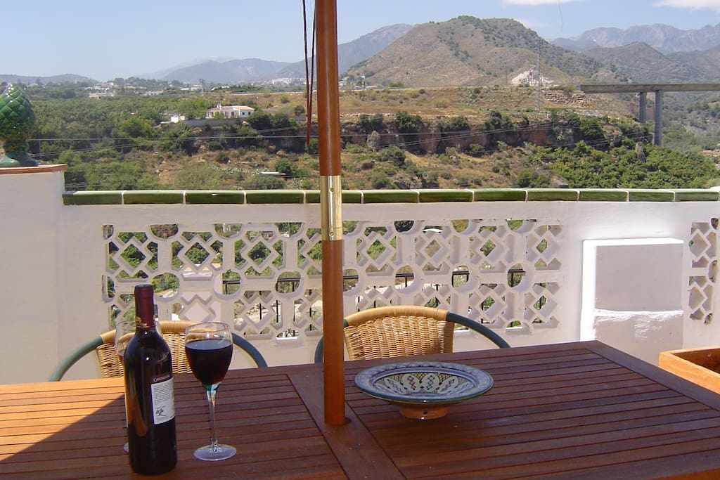 Fantastic views from the terrace, yet only a short walk from Nerja centre,