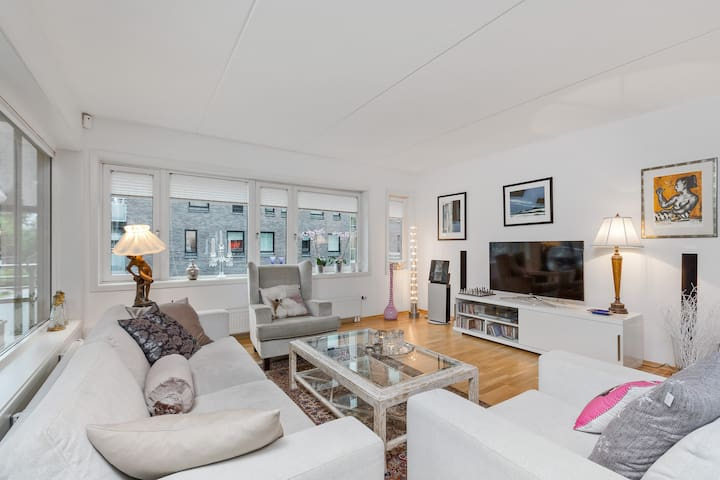 Stylish 3 bedroom centrally at Skøyen, terrace
