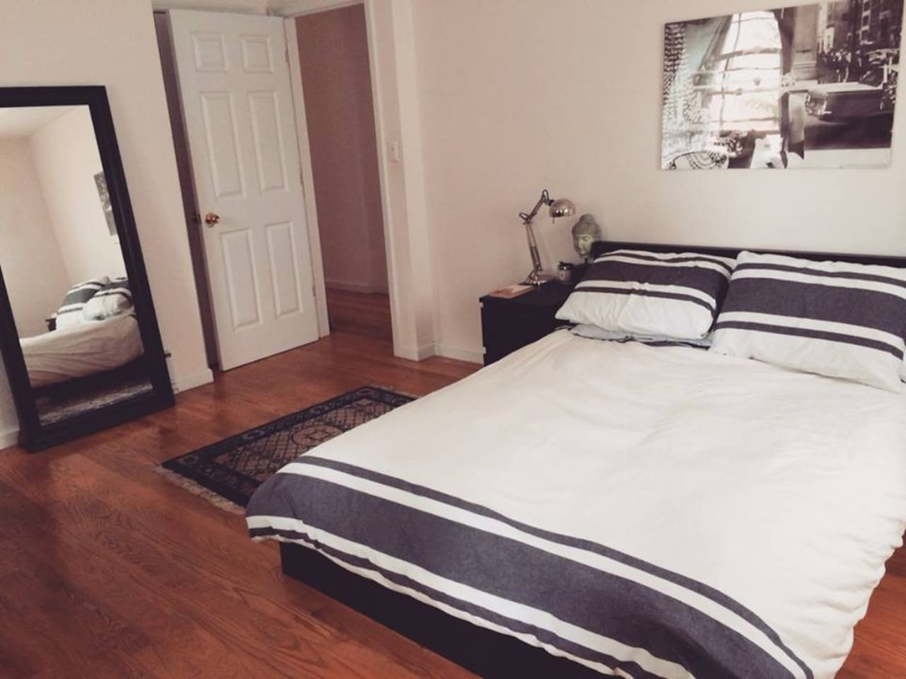 Private room with private bathroom and balcony | new king sized bed | new memory foam mattress