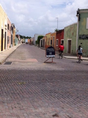 Borrow a bike and ride the Bici Ruta, starts every Sunday morning 4 blocks from our house.