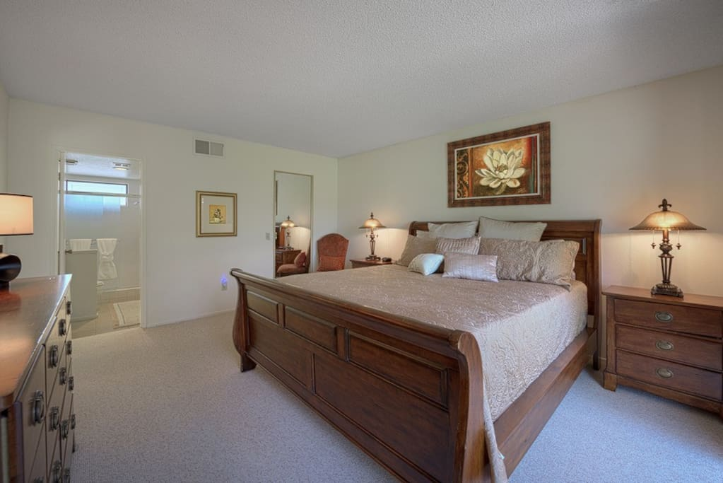 Master bedroom - with bath, King bed and large walk-in closet.