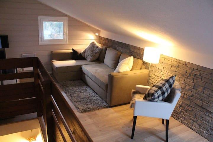Cosy loft apartment, Chatel centre - Châtel - Lägenhet