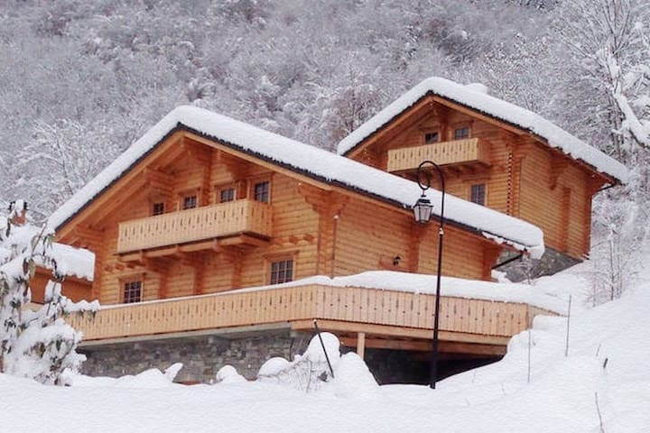 *3 Valleys* Wooden Chalet - La Perrière - Stuga