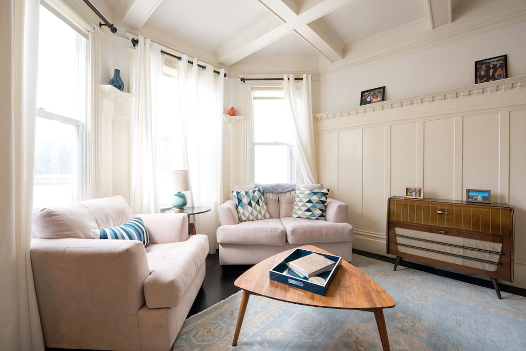 A comfy living room!