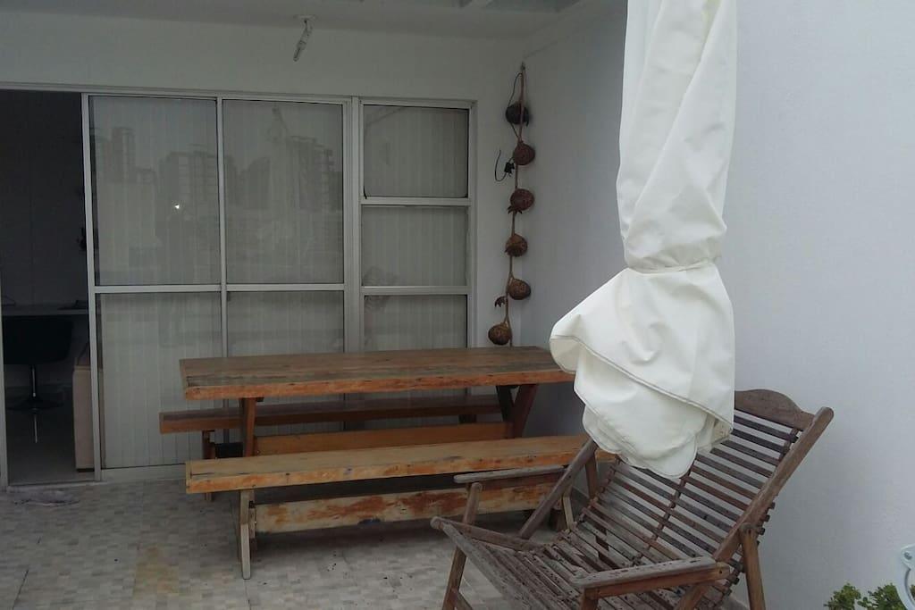 área externa do apartamento