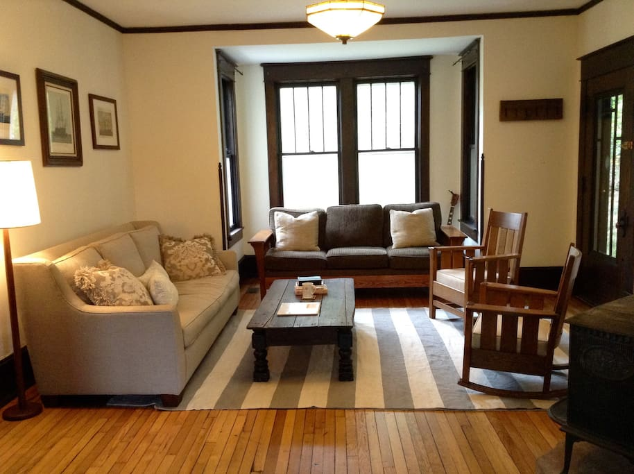 The parlor is a great place to relax and enjoy your friends and family.