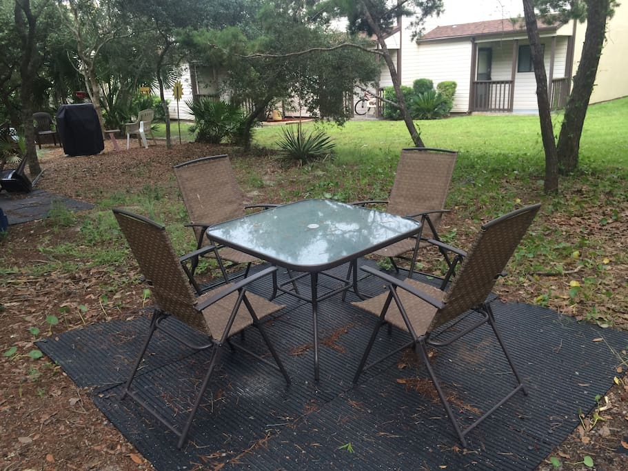 backyard, patio furniture