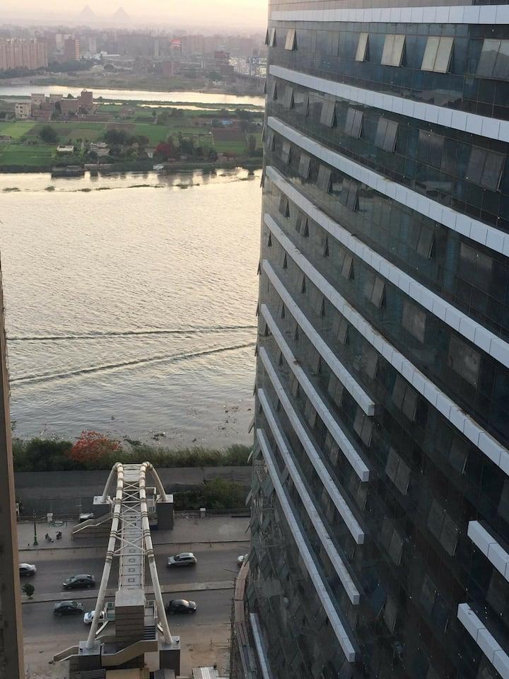 Appartement lumineux avec vue sur le Nil