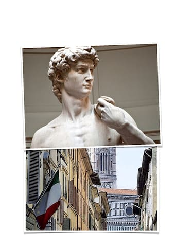 Homey studio same street as David of Michelangelo - Florenz - Wohnung