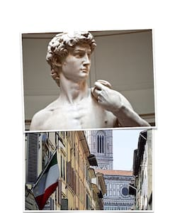Homey studio same street as David of Michelangelo - Florencie - Byt