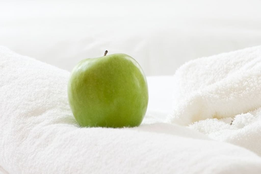 Quality bed linen, shower towel and bathrobe in our rooms.