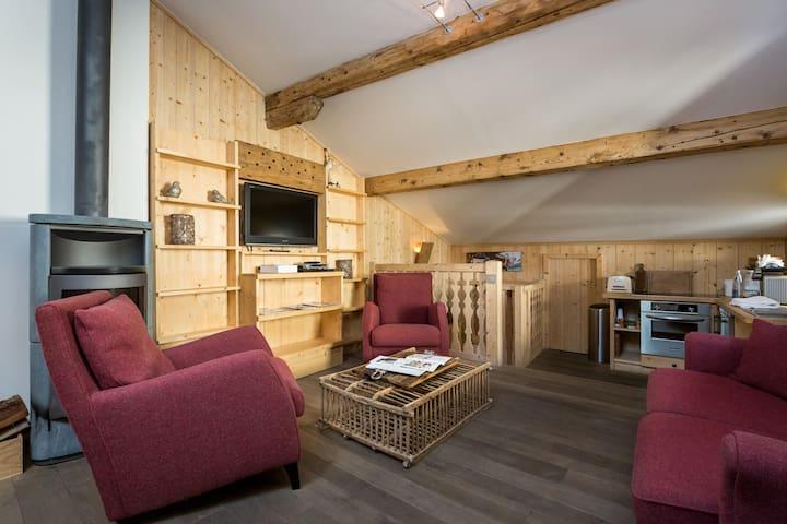 Appartement spacieux centre village - Megève - Apartment