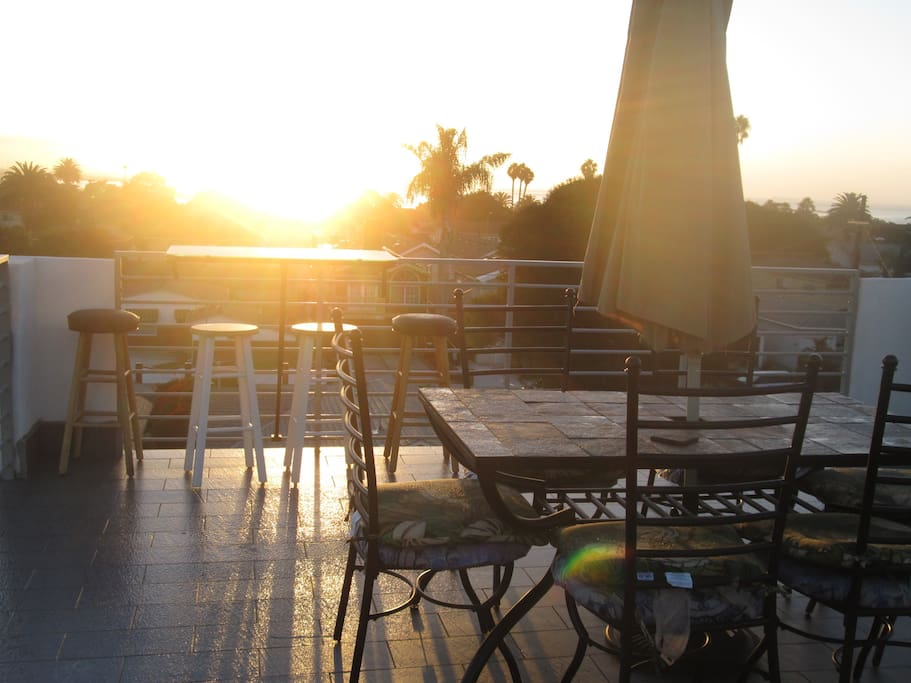 Sunrise from our roof top patio with 180 degree Ocean View!!!