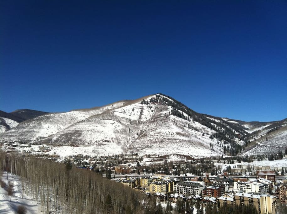 Vail Village from the mountain