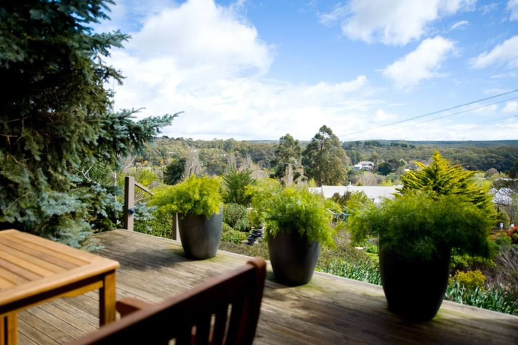 Argus Hill Daylesford - View from Deck