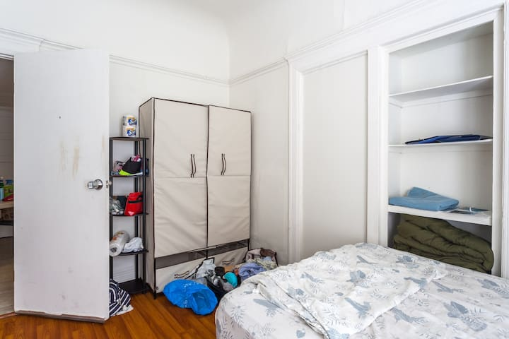 Built-in shelves and closet