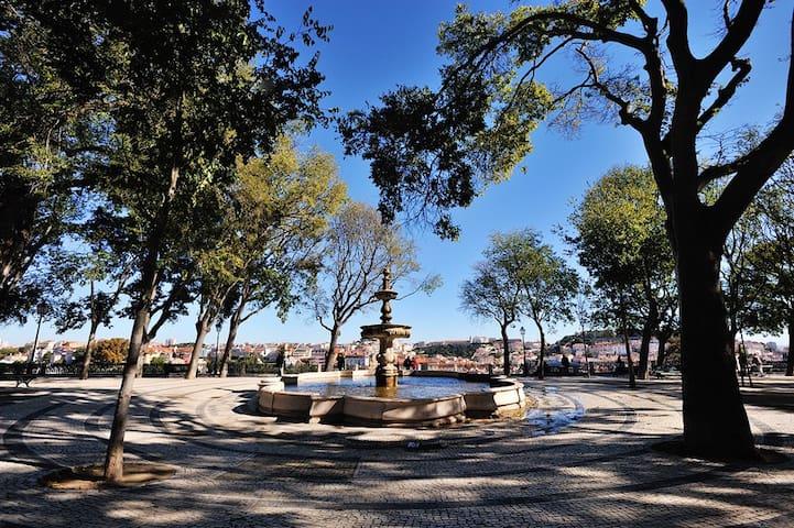 The beautiful Sao Pedro de Alcantara viewpoint  is five minutes away.