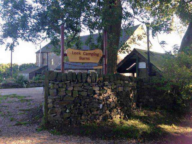 Arriving at Leek Camping Barns
