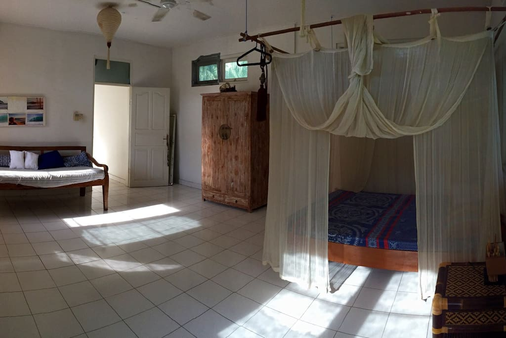 Wide angle view of the room