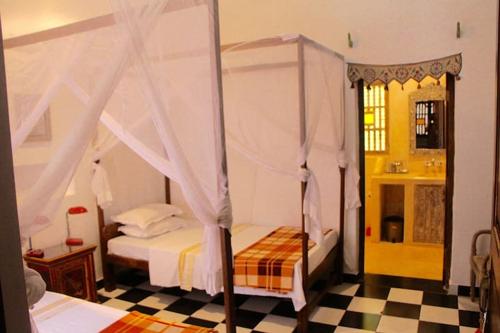 Twin/double room 5 in peaceful yoga centre setting
