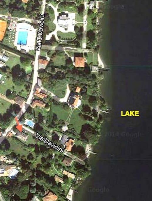 50 metri dal lago