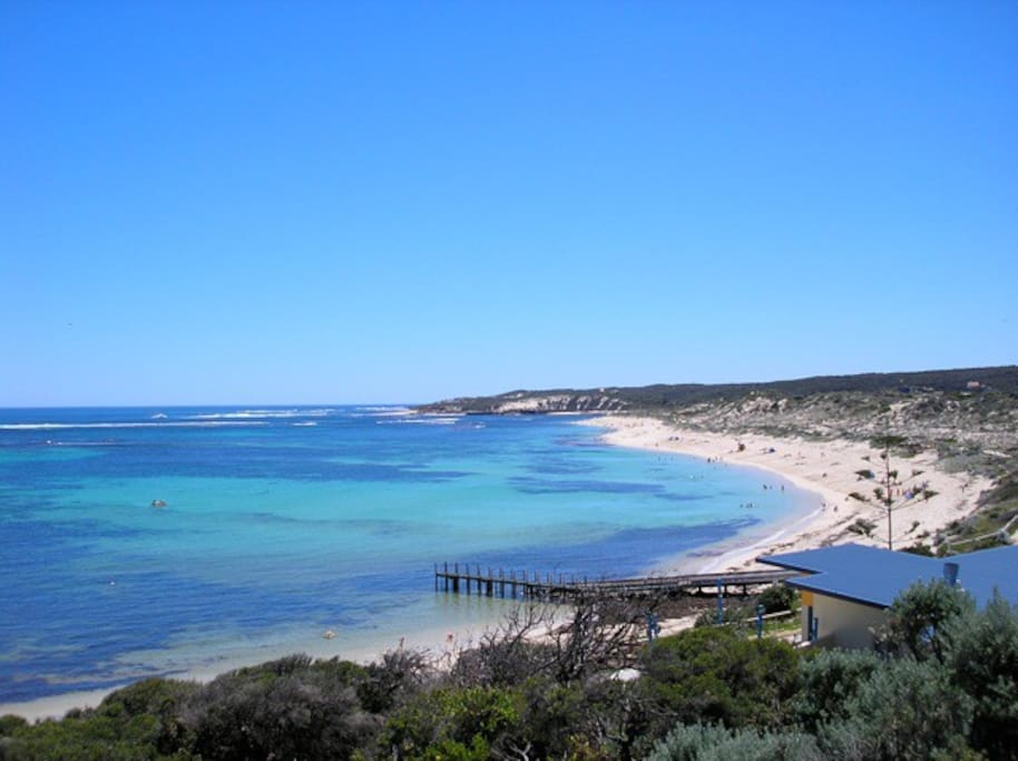 Beach 300 metres from Ricky's Place