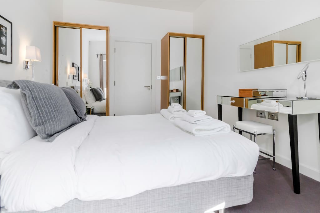 Relax in the comfy bed after a busy day walking around London