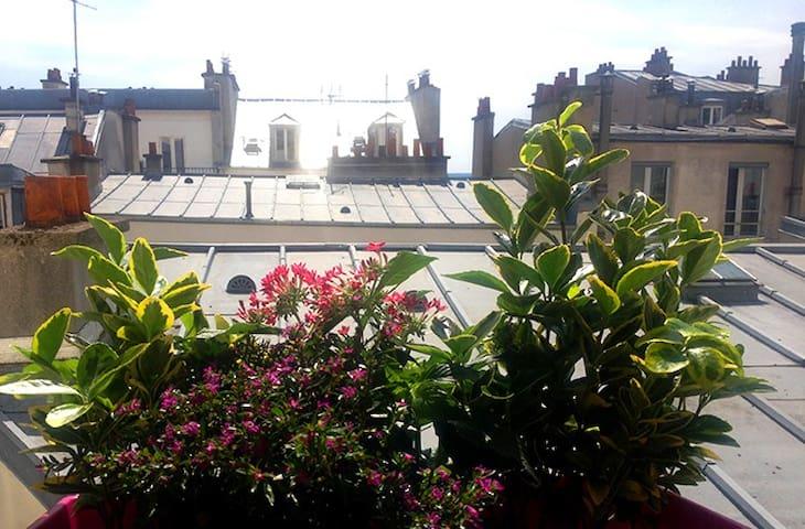 Vue de la cuisine; sur les toits