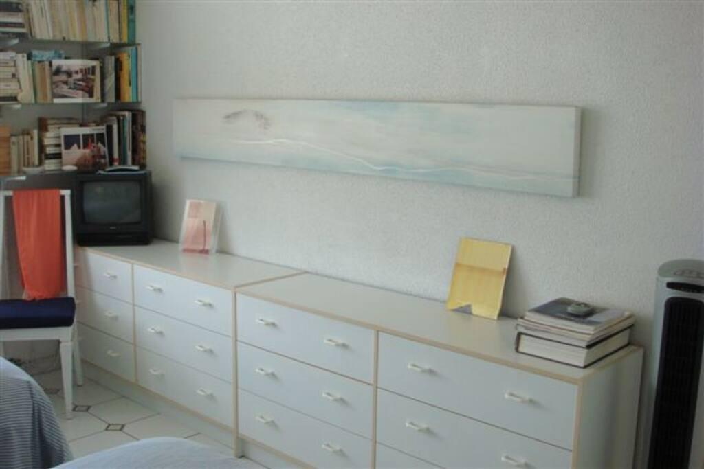 Bureau in the bedroom