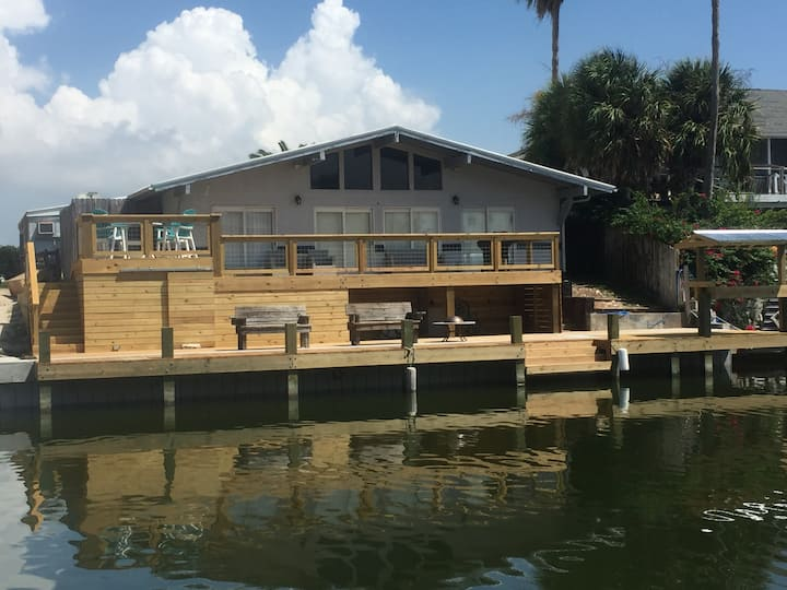 Canal House with Spacious Deck!