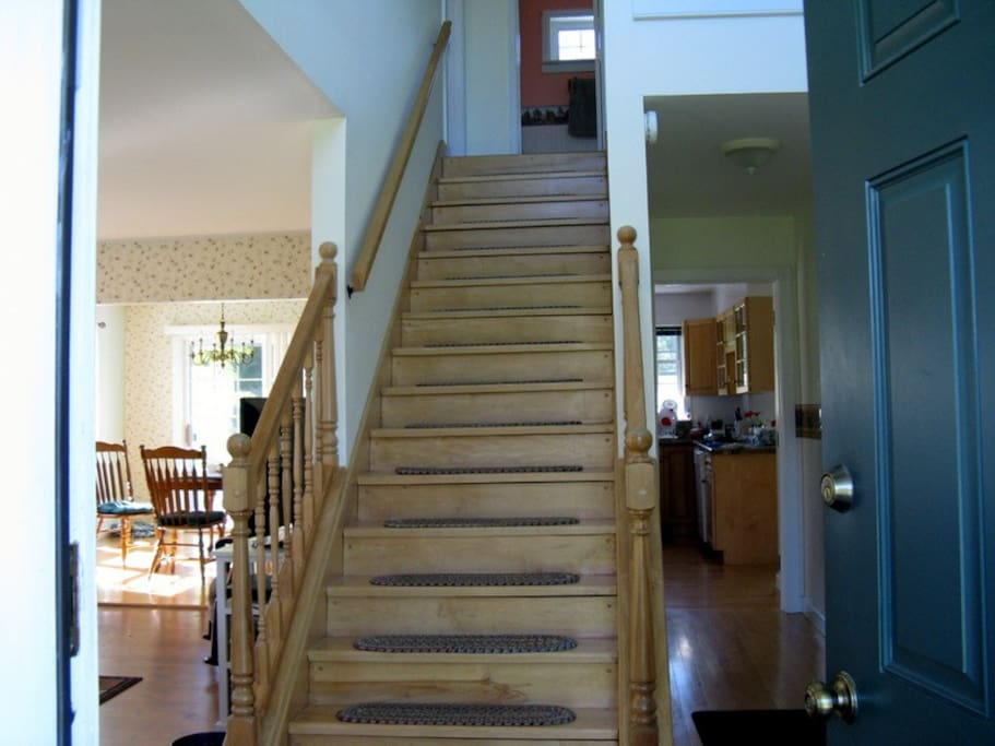 Stairs to the upstairs bedrooms.