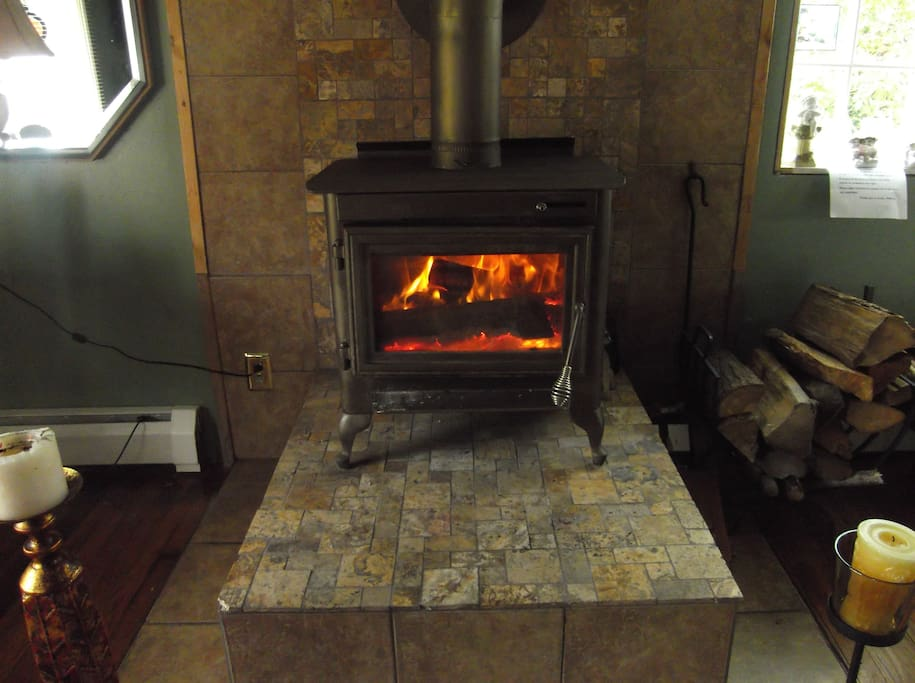 Sit in front of a cozy fire after a day at the slopes, or site seeing!