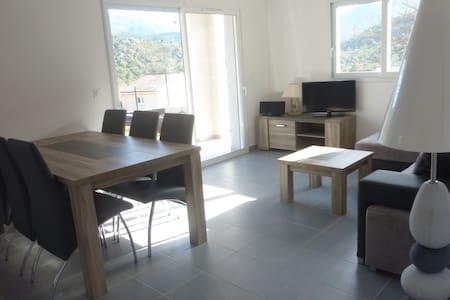 Appartement avec  terasse et jardin - Morosaglia - Wohnung
