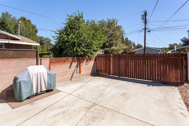 Gated parking, great spot to hang outside Bbq always stocked with propane ready for grilling!