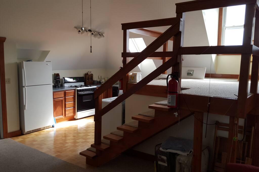 Kitchen and Sitting Loft