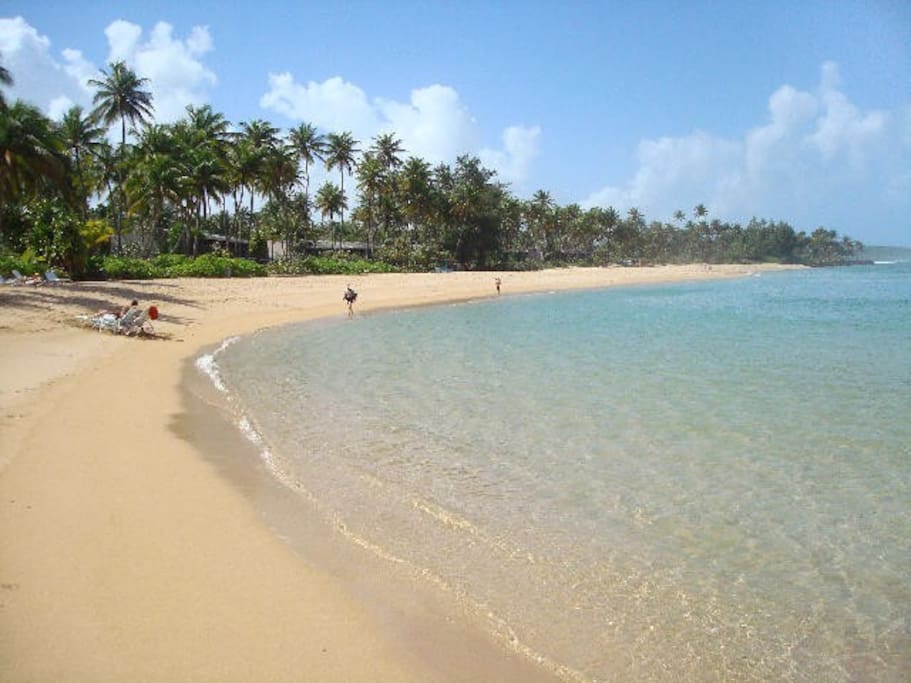 Miles of white sandy beaches minutes away from your villa.