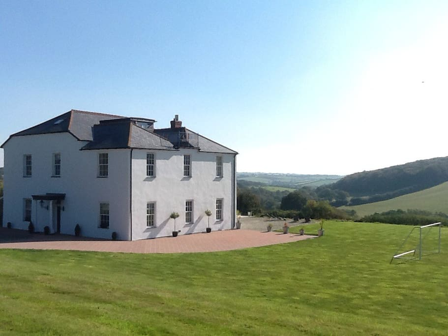 Tremeale Manor has beautiful views of the valley & countryside beyond.