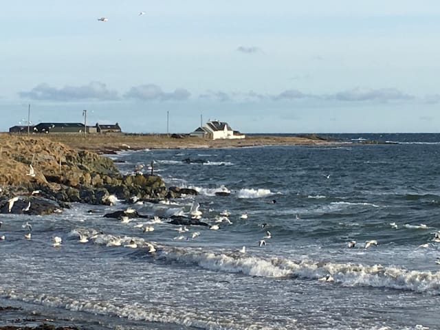 "Beach house ""Port Na Criche"" on Balephetrish Bay"
