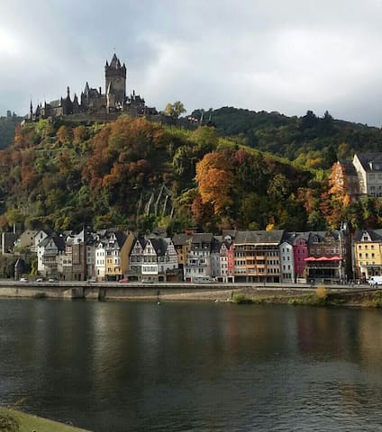 Phantastischer Blick auf die Burg und Mosel