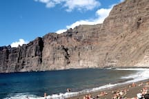 the beach in Los Gigantes