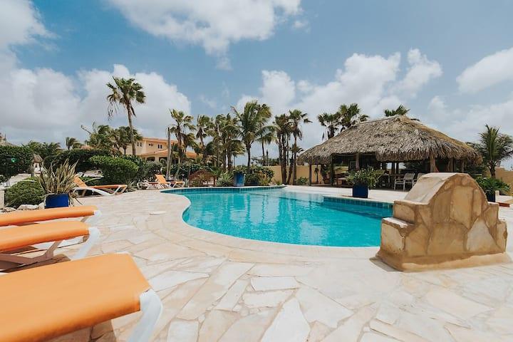 2 bedroom villa - pool area; Aruba Hidden Garden