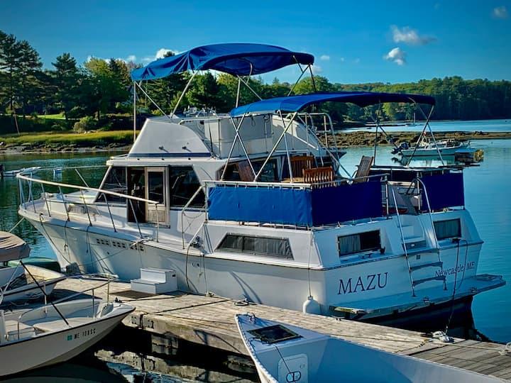 Mazu, the Boat Hotel, in Maine