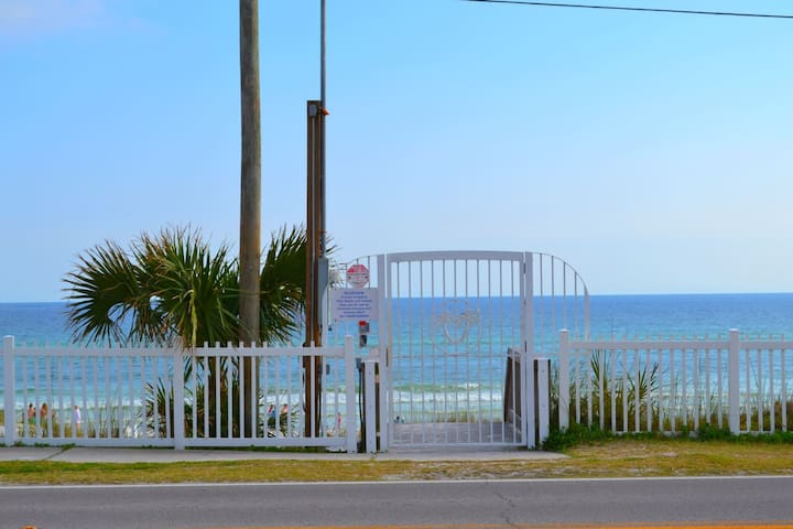 Beach access less than 50 yards from unit